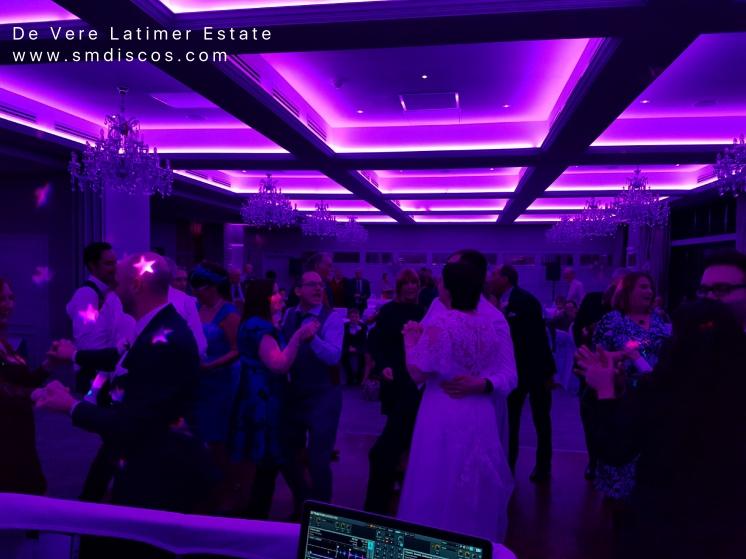 wedding dance at de vere latimer estate.