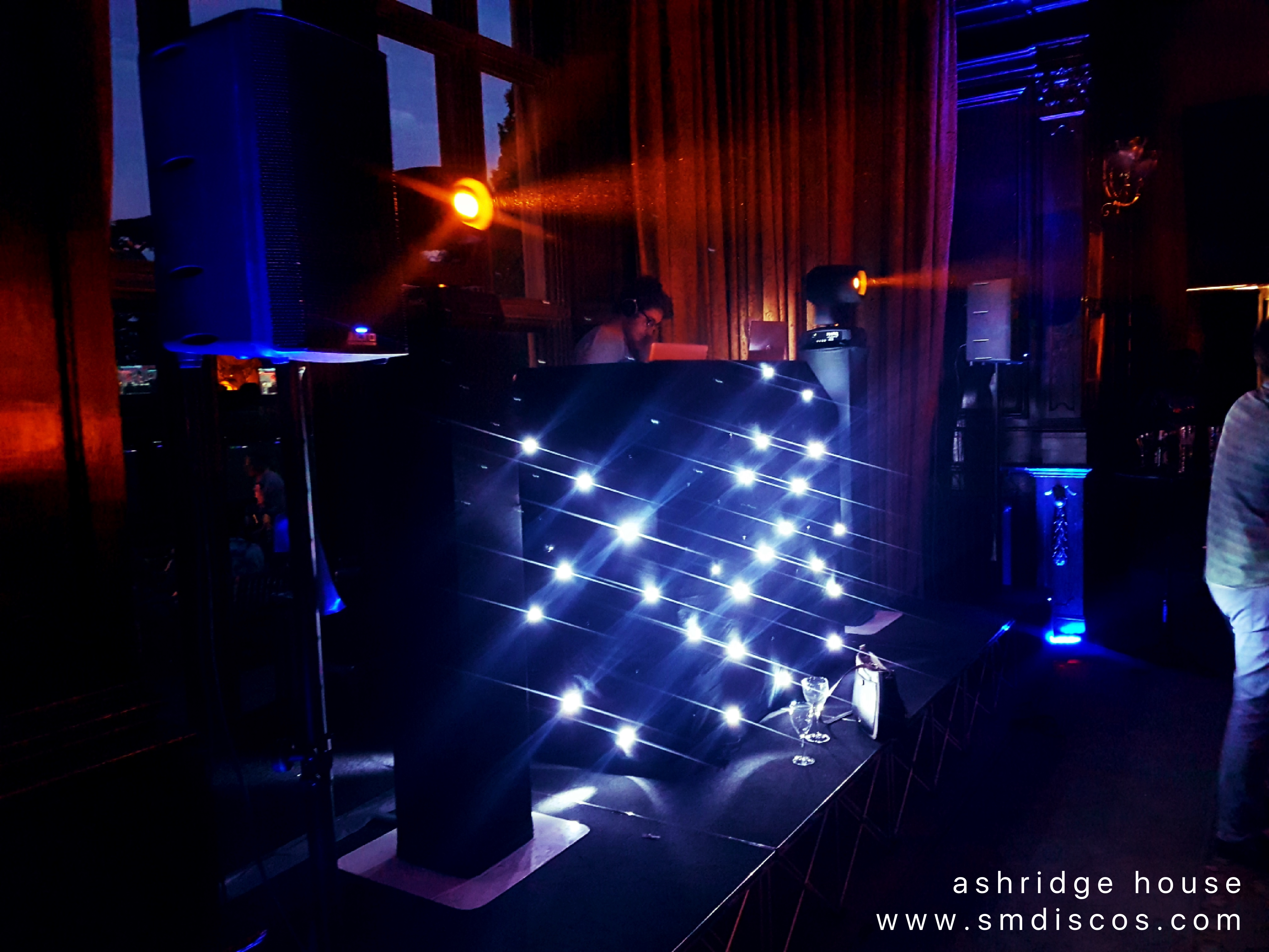 dj set up at ashridge house