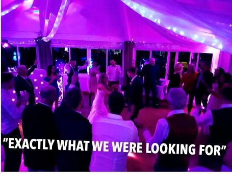 Wedding disco at Sanford Springs