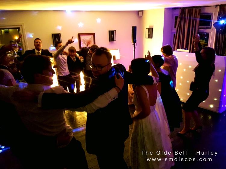The olde bell wedding disco in Hurley