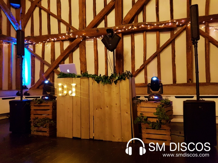 Rustic DJ Set Up at The Olde Bell