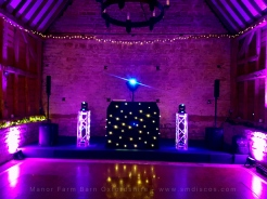 Wedding DJ set up Oxford