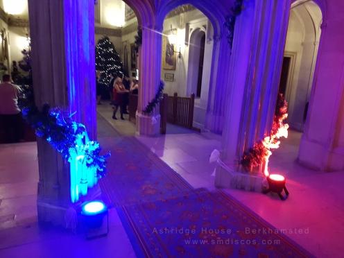venue uplighting at ashridge house