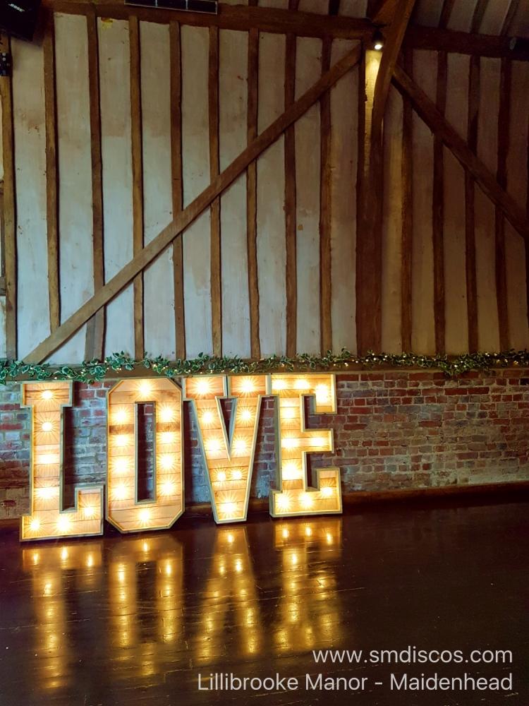 Rustic light up letters maidenhead