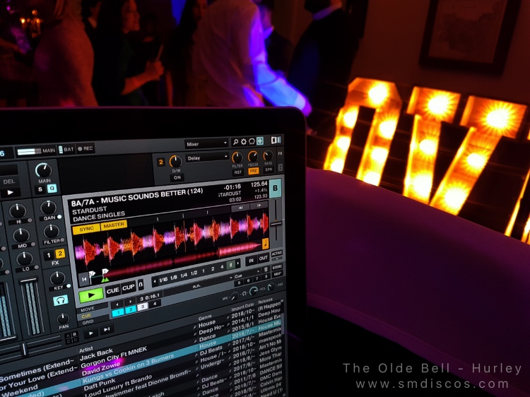 Wedding disco hire at the olde bell in Hurley