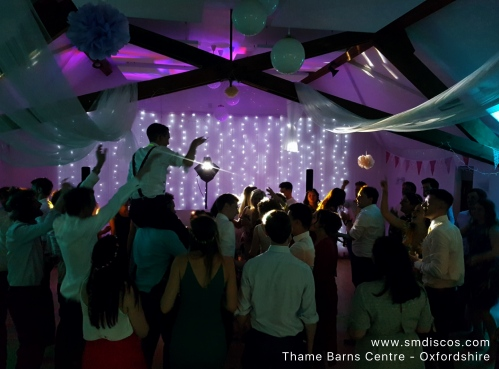 Wedding disco at Thame Barns Centre