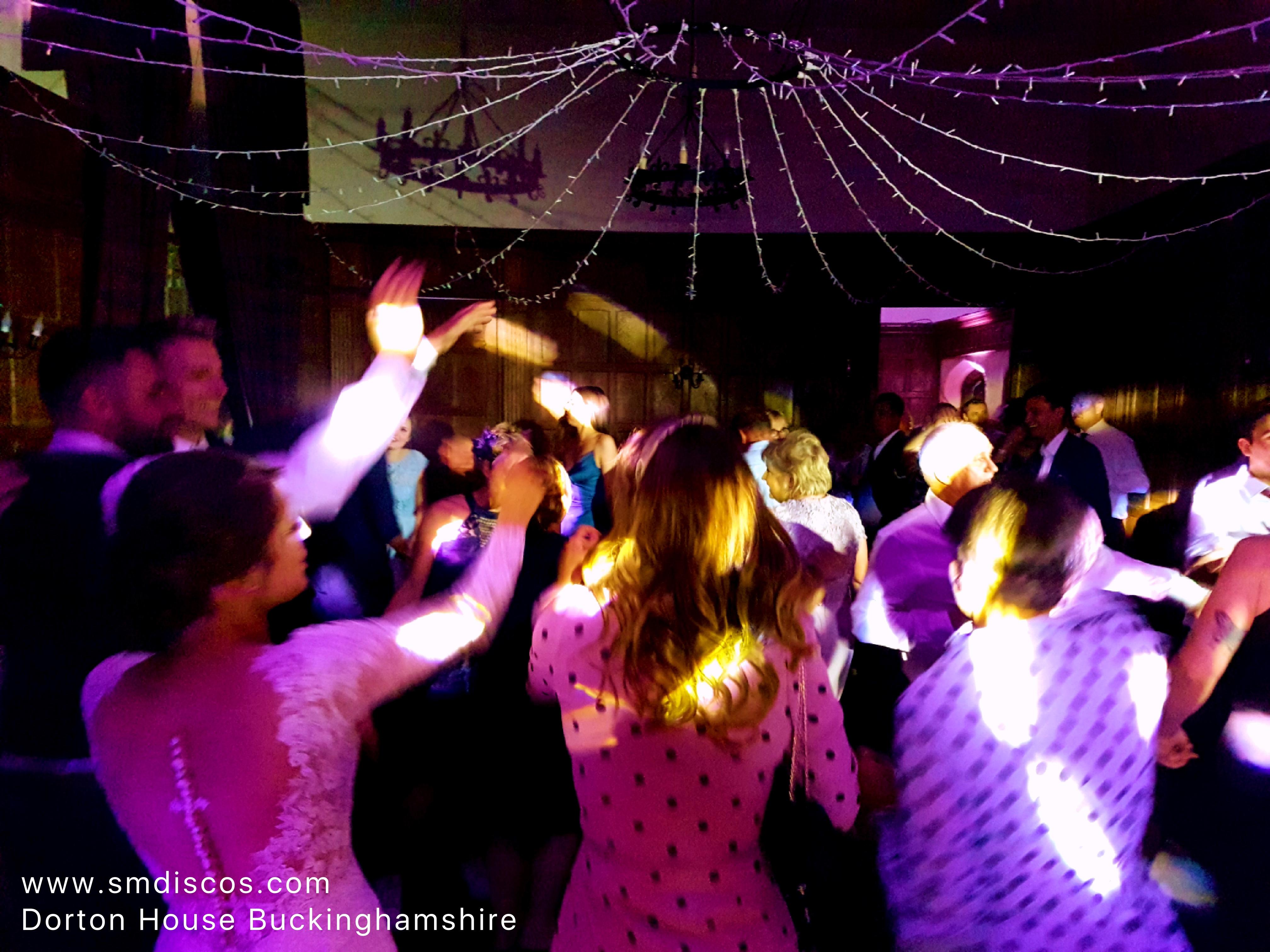 Wedding DJ party at Dorton House