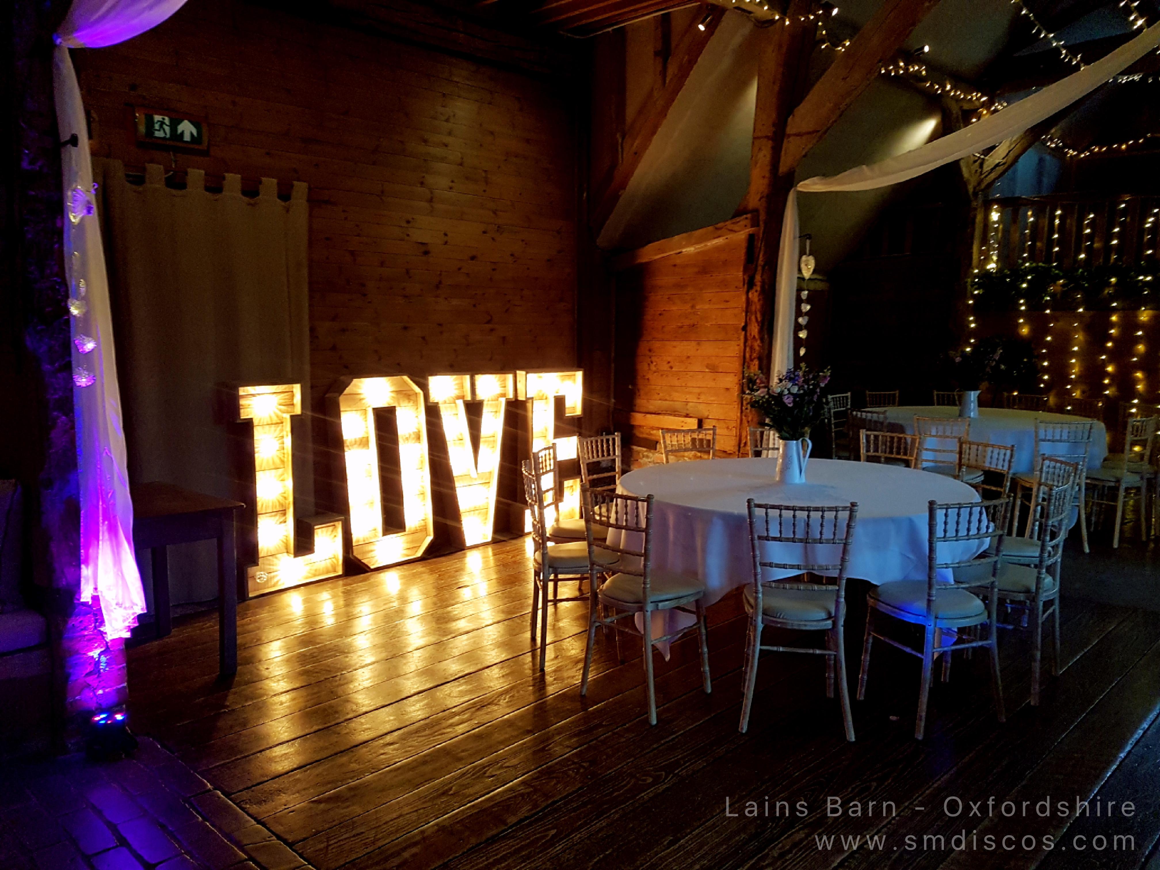 Lains Barn Oxfordshire Love Letters