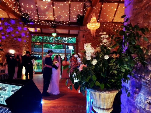 Steven & Claires first dance at Notley Abbey