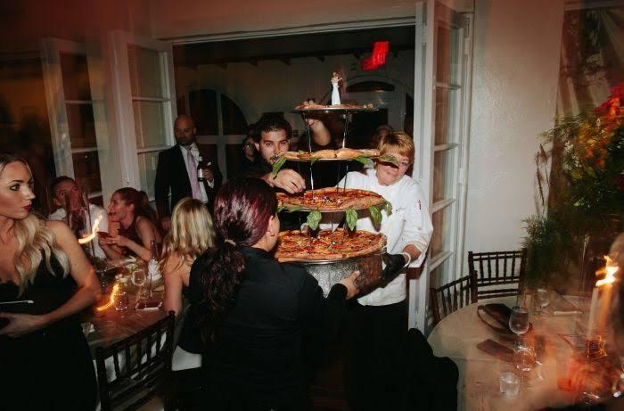 Wedding cake pizza