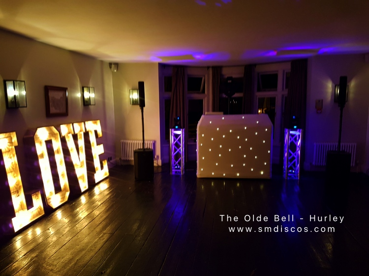 Wedding disco at the olde bell in Hurley